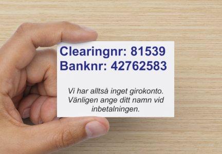 ica banken clearingnummer